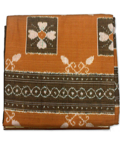 Bargarh Camel Orange Cotton Double Bedcover