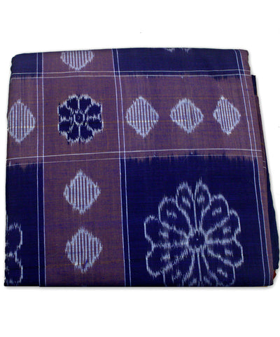 Bargarh Blue Cotton Double Bedcover