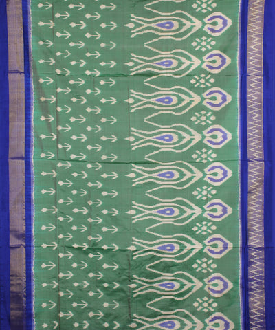 Light Mehendi Green Handloom Ikat Silk Saree