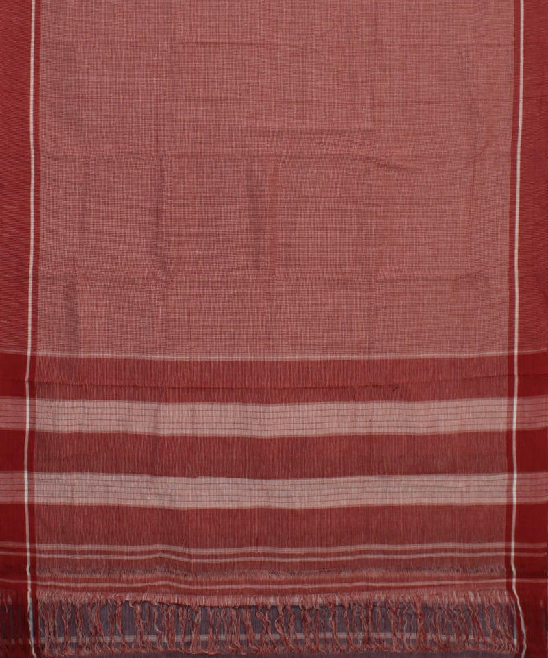 Brown Checks Patteda Anchu Handloom Saree