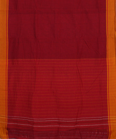 Patteda Anchu Red Checks Handloom Saree