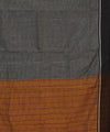 Patteda Anchu Grey Checks Handloom Saree