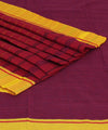 Patteda Anchu Purple Magenta Handloom Saree