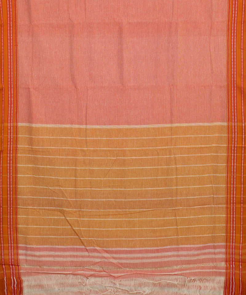 Peach Hubli Handloom Cotton Saree