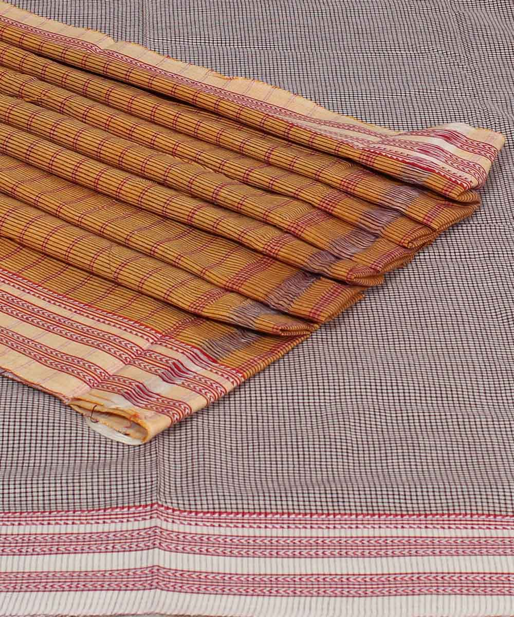 Patteda Anchu White Check Gomi Handloom Saree