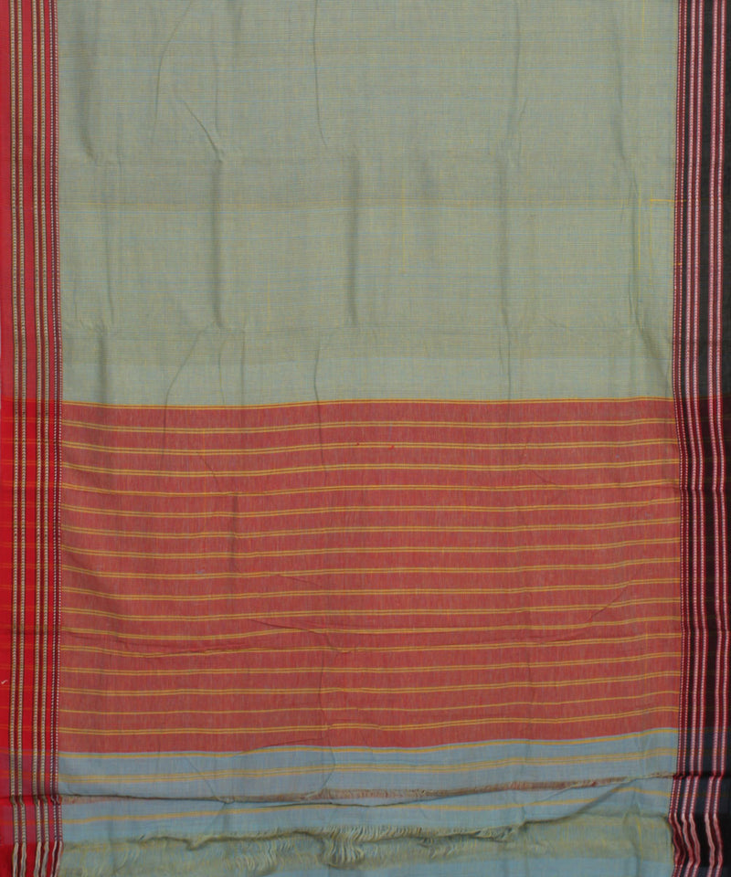 Patteda Anchu Pista Green Gomi Handloom Saree