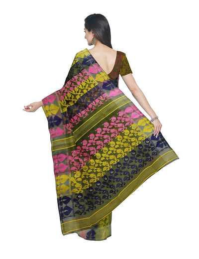 Handloom Multicolor Jamdani Bengal Saree