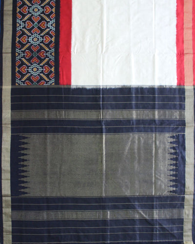 Handloom Ikat Silk Saree in Multi color