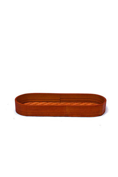 Orange Handmade Bamboo Olive Tray