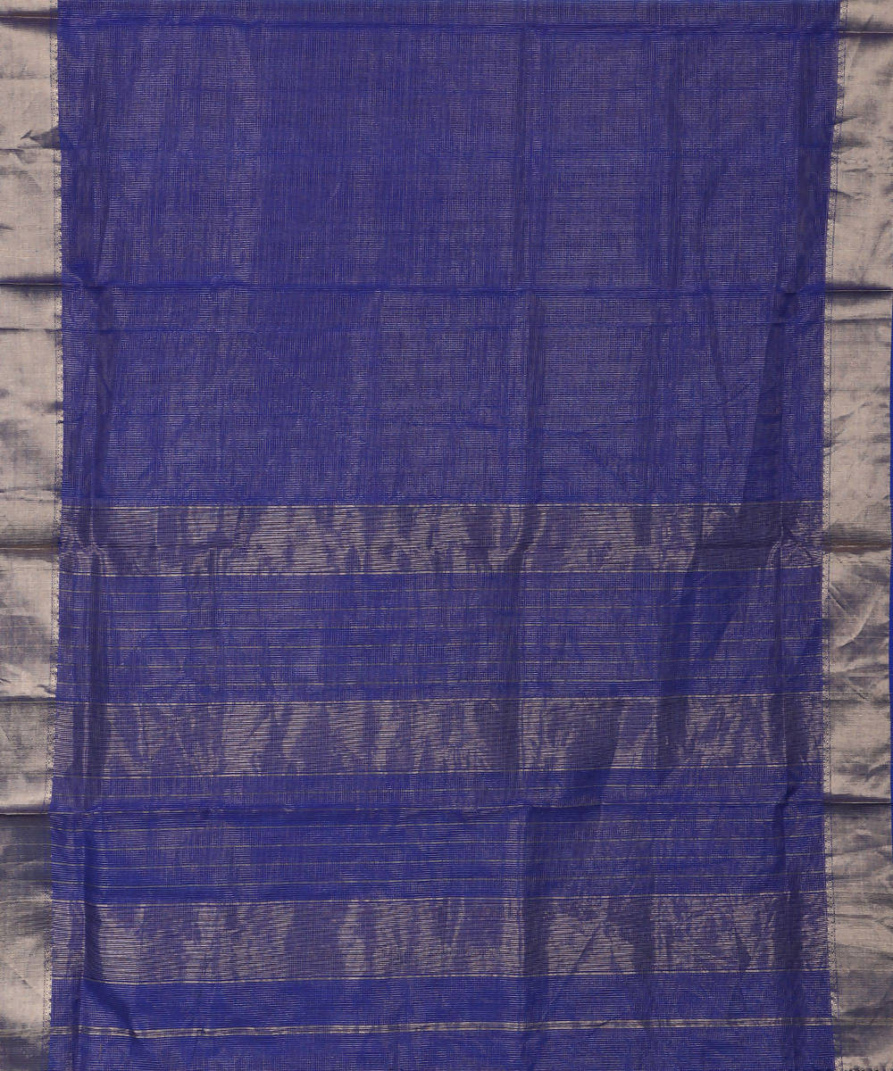 Maheshwari Handloom Sico Saree Royal Blue