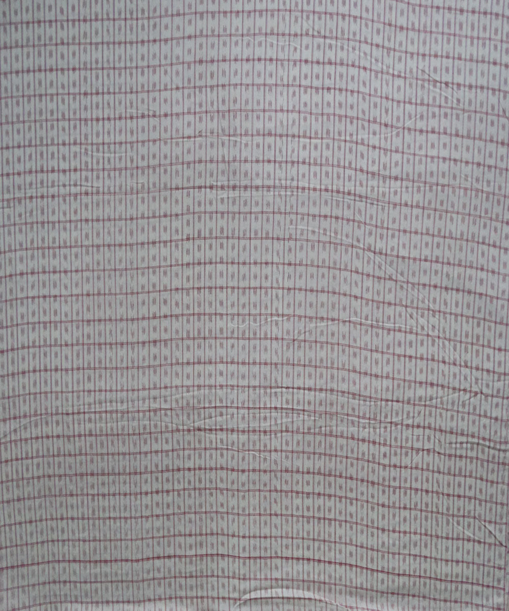 Cream Vegetable Dye Ikat Material