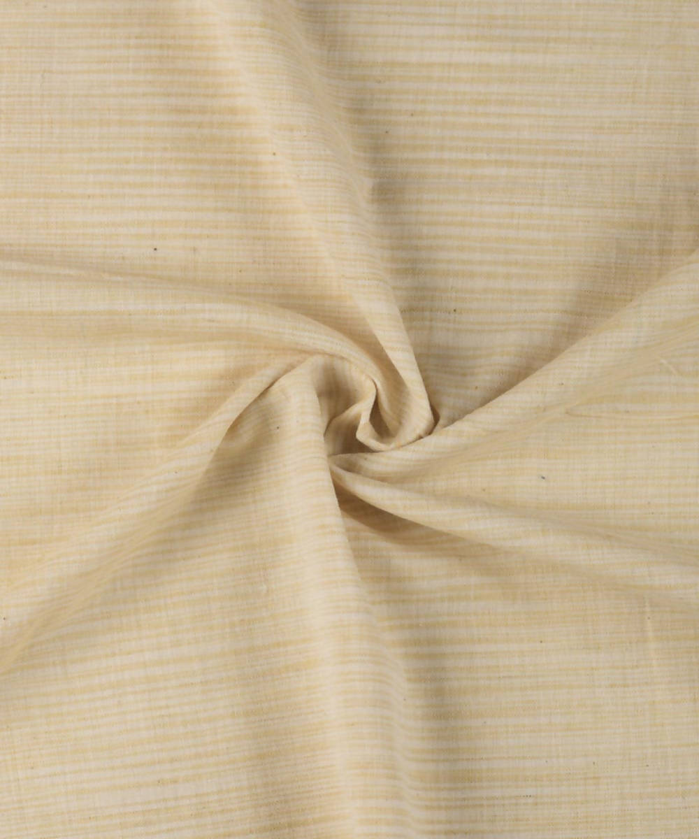Off white natural vegetable dyed cotton handwoven fabric