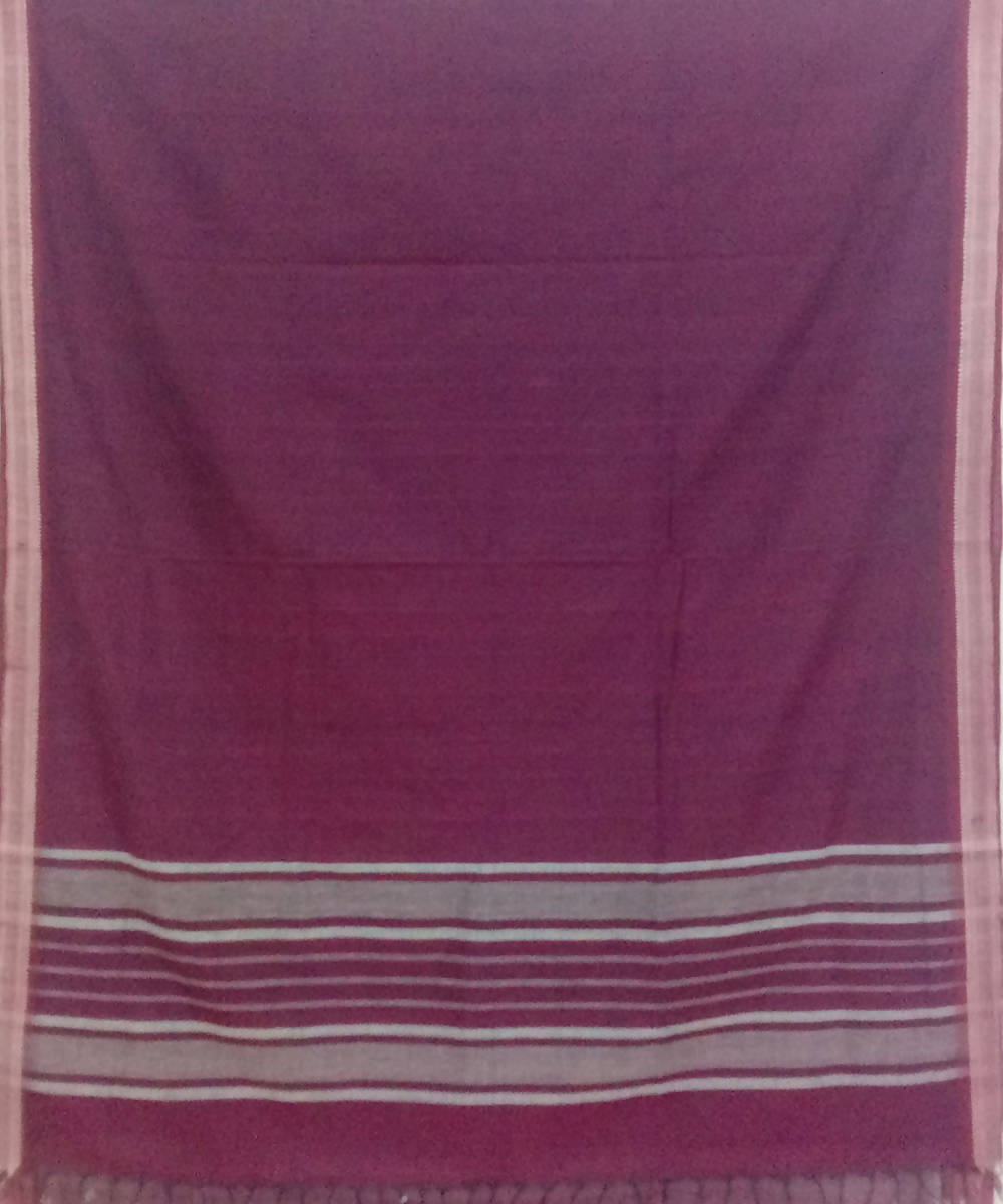 venkatagiri maroon handwoven cotton saree