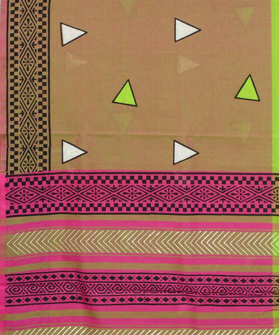 Multicolor Handloom Tamil Nadu Cotton Saree