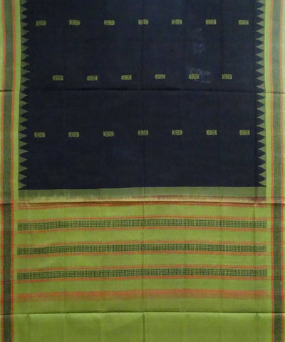 Black Cotton Handloom Sambalpuri Dupatta