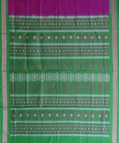 Magenta Cotton Bomkai Handloom Saree