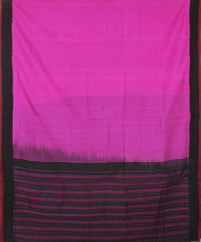 Pink Black Handloom Mangalagiri Cotton Saree