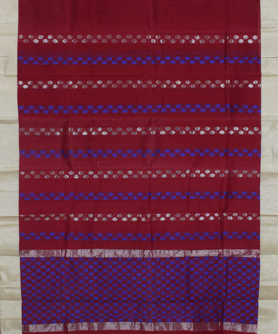 Burgundy Chirala Handloom Cotton Silk Saree