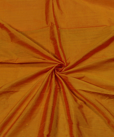 Red And Yellow Raw Silk Fabric