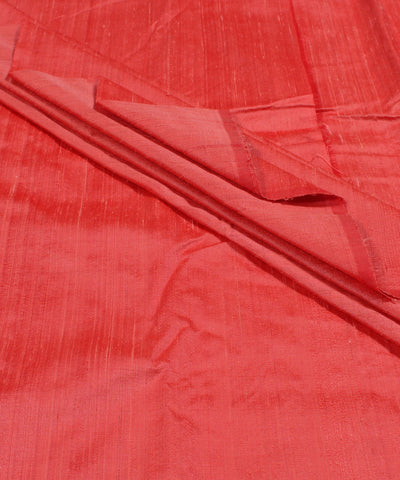 Khadi Peach Raw Silk Fabric