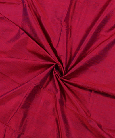 Khadi Red and Blue Raw Silk Fabric