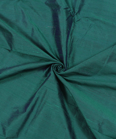 Khadi Aqua Green Raw Silk Fabric