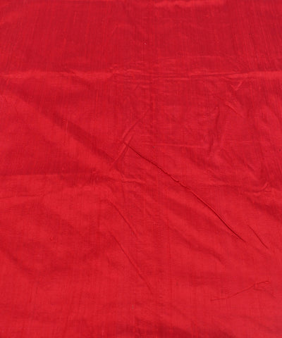 Khadi Red Maroon Raw Silk Fabric