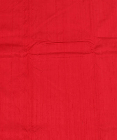 Khadi Red Raw Silk Fabric
