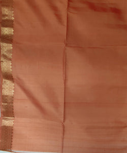 dark coffee brown zari butta work handloom silk saree