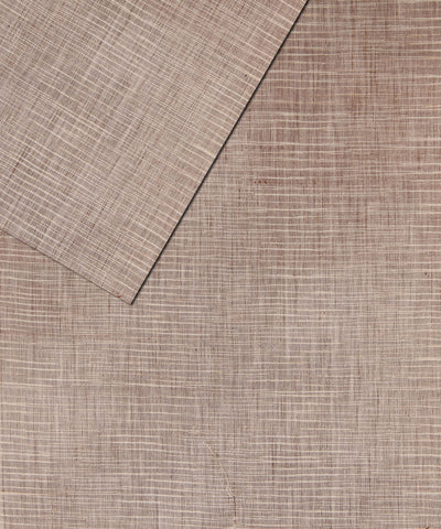 Handloom Brown and White Khadi Cotton Fabric