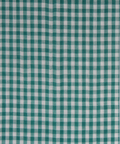Handloom Green checks Cotton Fabric