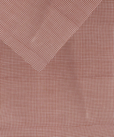 Handloom Brown White checks Khadi Fabric