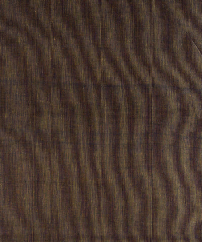 Brown Stripe Handloom Cotton Khadi Fabric