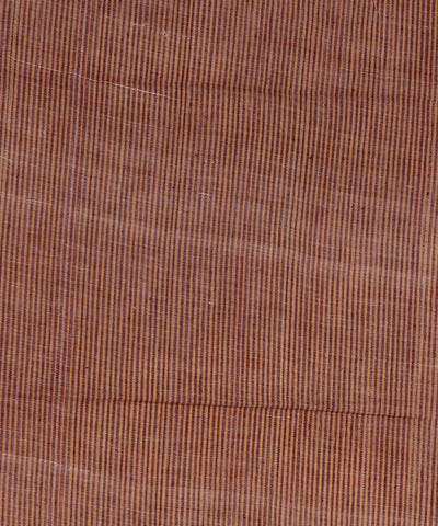 Red Brown Stripe Handloom Cotton Khadi Fabric