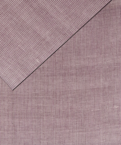 Handloom Red Stripe Khadi Cotton Fabric