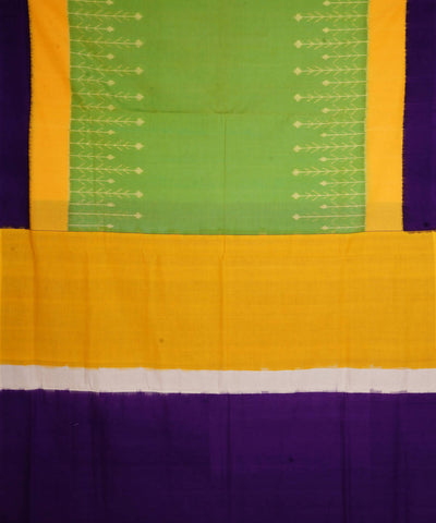 Parrot Green Handloom Ikkat Cotton Saree