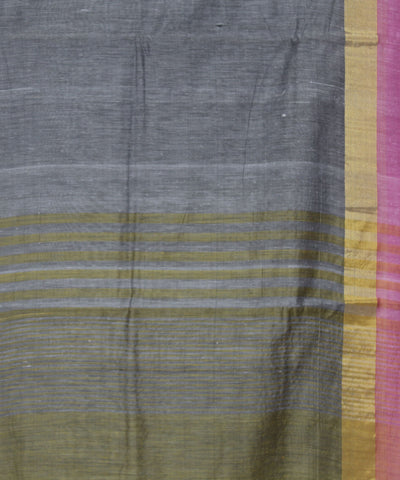 Khadi Handwoven SICO Grey Saree