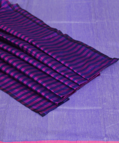 Khadi Handwoven Light Violet SICO Saree