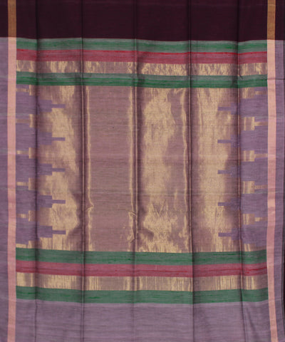 Khadi Handwoven Wine SICO Saree