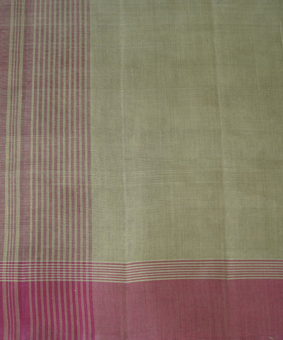 Light Green and Magenta Salem Handloom Cotton Saree