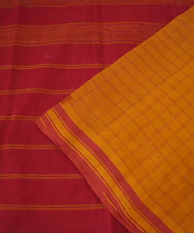 Mustard Pink Salem Handloom Cotton Saree