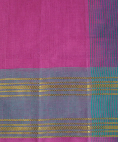 Pink and Blue Grey Salem Handloom Cotton Saree