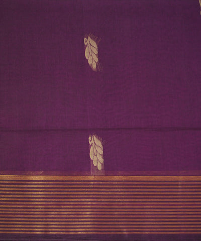 Dark Purple Salem Handloom Cotton Saree