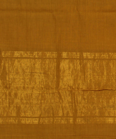 Mustard Mangalagiri Handloom Cotton Saree