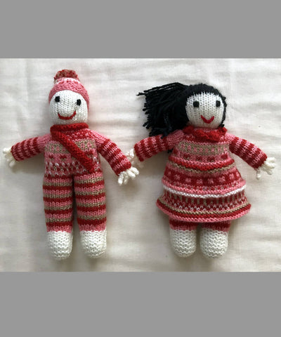 Hand Knitted Woollen Soft Toys Combo (Gudda Guddi) Set of 4