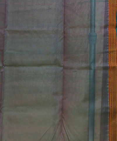 Maheshwari Light Brown Handloom Cotton Silk Saree
