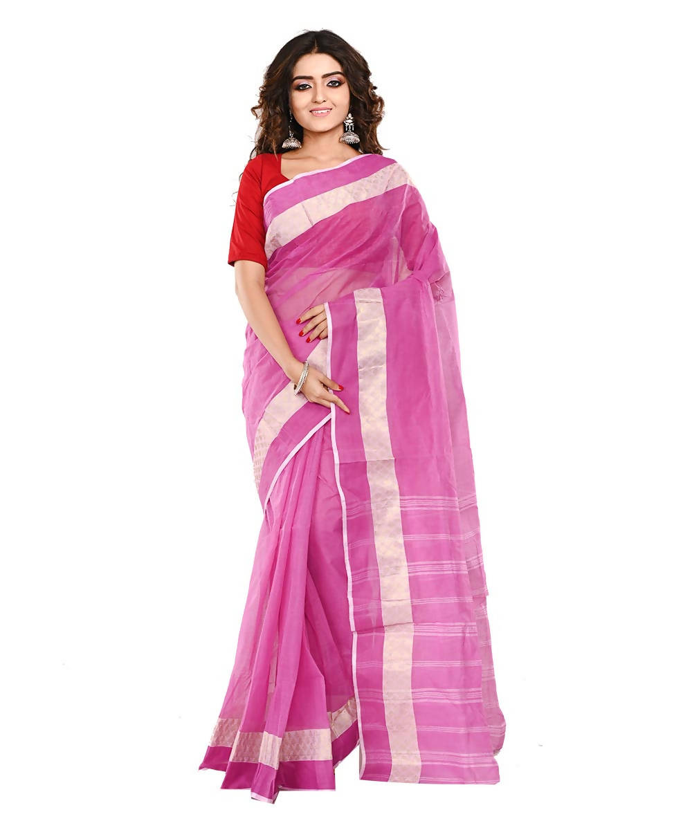 Bengal Handloom Cotton Pink Saree