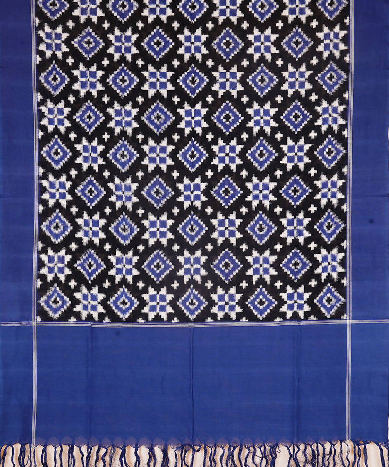 Blue Handwoven Telia Rumal Cotton Dupatta