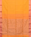 Maheshwari Handwoven Fire Yellow Sico Saree