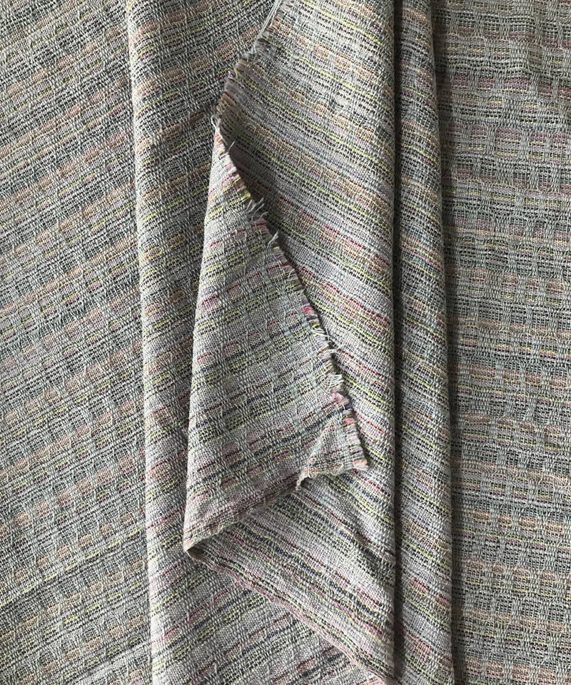 Grey Handwoven Wollen fabric